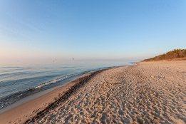 Sie sehen den Strand von Pobierowo an der polnischen Ostseeküste