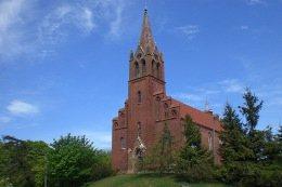 Die Kirche von Lubin auf Wolin