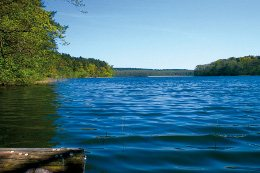 Idyllischer See auf Wolin in Polen