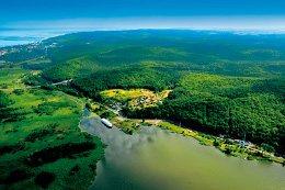 Luftbild vom Nationalpark Wolin
