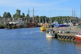 Hafen von Leba in Polen